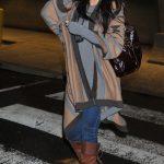Khloe Kardashian's hair blows in the wind in Washington, DC